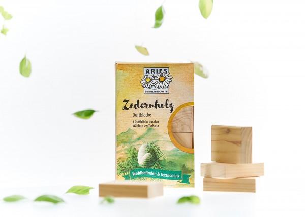 Zedernholz Duftblöcke 4er Set